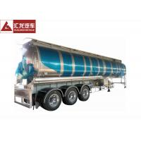 China 3 Axle 42000 L Fuel Transfer Tank Trailer / Tanker Trailer Large Carrying Capacity on sale