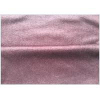 Buy cheap Pink Wool Cashmere Coating Fabric Knitted, Customized Wool Blend Suiting Fabric from wholesalers