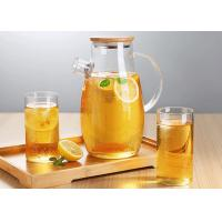 Buy cheap Microwave Safe Glass Carafe Pitcher For Juice Liquid ISO9001 Approved from wholesalers