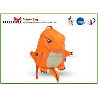 Buy cheap Orange Animal Toddler Backpack For 1 Year Old Breathable Tyrannosaurus Shape from wholesalers