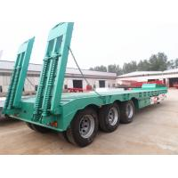 Buy cheap Best selling cheap two axle low flat bed semi trailer load capacity 50tons 13 meters trailers dimension from wholesalers