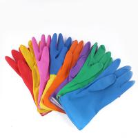 Buy cheap Colorfull household gloves Latex Outer Material and Cleaning Usage flock lined latex gloves from wholesalers