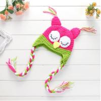 Buy cheap Coloured Baby's Handmade Knitted Night Owl Hat Soft Crochet Caps from wholesalers
