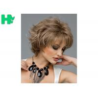 Buy cheap 12 Inch Synthetic Hair Curly Short Blonde Wigs 100% High Temperature Wire Wigs For Adult from wholesalers