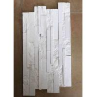 Buy cheap 2.5 G / Cm³ Density Natural Slate Stone Marble Culture Stone Sawn Cut Split White Color from wholesalers