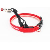 Buy cheap Adjustable Safety Nylon Rechargeable LED Dog Collar With USB Cable from wholesalers