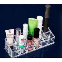 Buy cheap 12 Grids Clear Acrylic Makeup Organizer Tray / Cosmetic Drawer Organizer from wholesalers