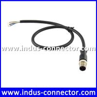 Buy cheap 5 contacts male gender equivalent to binder connector M12 A code striahgt ip68 protection class cable from wholesalers