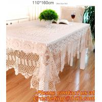 Buy cheap Handmade Table Cloth Crochet Table Runner Dining Party Tablecloth Lace Tablecloths For Wed from wholesalers