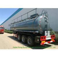 Buy cheap Heavy Duty Chemical Tank Trailers For 30 - 45MT Sodium Hydroxide Transportation from wholesalers