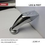 Buy cheap sofa legs sofa feet furniture hardware accessories chrome finish from wholesalers