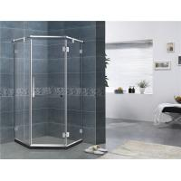 Buy cheap Mirror Color Corner Shower Enclosures Diamond Shape Hinged Style For House from wholesalers