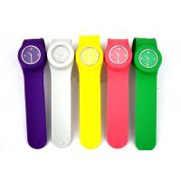 Buy cheap custom eco-friendly 100% silicone slap LCD watch from wholesalers