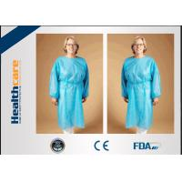 China Safety Disposable Surgical Gowns / Medical Isolation Gowns Free Sample 35/40/45Gsm on sale