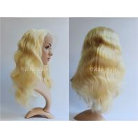 Buy cheap All Length Full Lace Virgin Hair Wigs / Blonde Body Wave Hair No Foul Odor from wholesalers