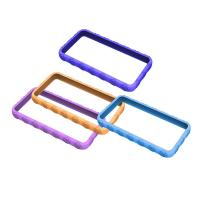 Buy cheap Blue / Purple Cell Phone Silicone Case, Bumper Cases For Apple IPhone OEM product
