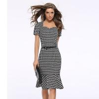Buy cheap 20713 European Latest New 2018 Mature Ladies Dress Plaid Images Hot Selling from wholesalers