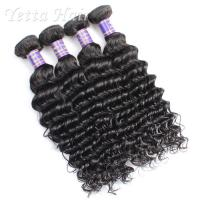 Buy cheap Fashionable Deep Curly Cambodian Virgin Hair Weave 14 Inch - 16 Inch from wholesalers