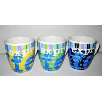 Buy cheap 12oz ceramic drum mug with printed letter design from wholesalers