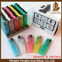Buy cheap Customer Logo Printed ABS Refillable Cigarette Lighter Flint Gas Lighter 80x22x11.30mm from wholesalers