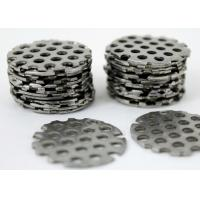 Buy cheap Silver Color Perforated Stainless Steel Mesh , Stainless Steel Punch Plate Smooth Surface from wholesalers