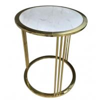 Buy cheap Brass / Gold Glass Square Coffee Table Decoration For Hotel Bedroom from wholesalers