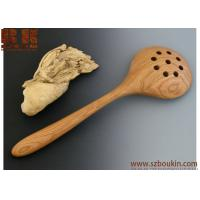 Buy cheap Black Cherry Holey Spadle Handmade Wood Utensil Wooden Serving Ladle Wood Kitchen Tool from wholesalers