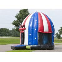 Buy cheap Comercial American Flag Disco Dome Bouncer,Children Inflatable Moonwalk Bouncer from wholesalers