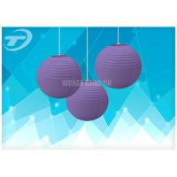 China Colorful Chinese Round Paper Lanterns / Paper Party Lanterns, available in different colors and sizes on sale