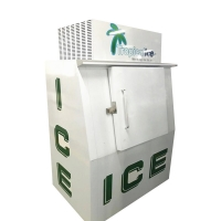 Buy cheap Outdoor Ice Machine Upright Solid Door Ice Storage Freezer Ice Cooling System from wholesalers