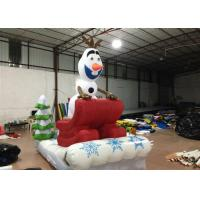 Buy cheap Outdoor Blow Up Christmas Decorations , Commercial Activities Merry Christmas Inflatable from wholesalers