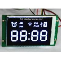 High Brightness LCD Panel Screen Seven Segment Metal PIN 66.00 * 45.50mm Viewing