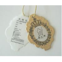 Buy cheap Jewelry / Clothing Embossed Cardboard Hang Tag , Coated / Matte Brown Paper Hanging Tags from wholesalers