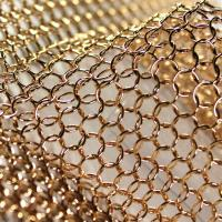 Buy cheap Bronze Color Chain Mail Ring Metal Mesh Curtain Panels For Space Divider from wholesalers