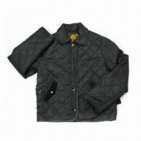China Ladies' Quilted Jacket, 310T Polyester Material, Breathable, Eco-Friendly, Waterproof on sale
