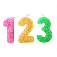Buy cheap Rainbow Color Glitter Number Candles For Birthday / Charistmas / Party Decoration product