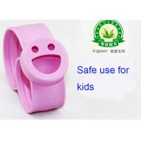Buy cheap Mosquito Smiling Face Silicone Slap Bracelets Non - Toxic Pink from wholesalers