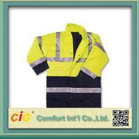Buy cheap Hi Viz High Visibility Winter Protection Reflective Safety Coat Security Clothing Polyster & Oxford from wholesalers