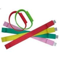 Buy cheap CE, ROHS Colorful USB Silicone wristbands, thick silicone bracelets for girl from wholesalers