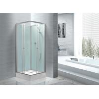 Fitness Halls 800 X 800 Glass Shower Cabin With Silver Aluminum Frame