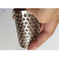 Buy cheap Durable Perforated Filter Tube , High Holding Capacity Perforated Round Tubing from wholesalers
