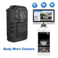 Buy cheap PC Real - Time Police Body Worn Camera For Police Officers , Support 3G / 4G / WIFI from wholesalers