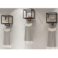 Buy cheap Customized Square Style Black Matt Garment Display Stands Made In China from wholesalers
