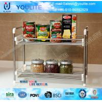 Buy cheap Fancy Metal Steel Kitchen Towel Rack , Two-way Cookhouse Commodity Shelf from wholesalers