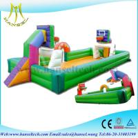 Buy cheap Hansel Indoor table Inflatable football soap court with bottom sheet for amusement park from wholesalers