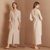Buy cheap 2018 Autumn New Arrivals Muslim Clothes Button Women Belt Maxi Shirt Dress from wholesalers