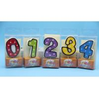 Buy cheap Colorful Children's Birthday Candles Number 0-9 , Custom Cake Candles For Celebrate product