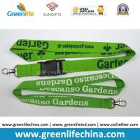Buy cheap Green breakaway woven-in lanyard with heavy duty hook, printed lanyards from wholesalers