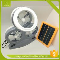Buy cheap AX-3MF LED Light 3 Mini Fans Rechargeable Solar Chargeable Mini Table Fan product