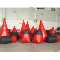 Buy cheap Red 0.6mm Pvc Tarpaulin Inflatable Paintball Bunker For Paintball Sports from wholesalers